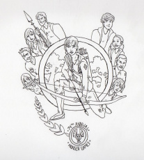 catching fire logo coloring pages Сoloring pages for all ages