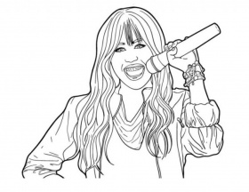 Incredible Hannah Montana Coloring Pages pertaining to Invigorate ...