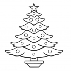 Best Christmas Tree Outline #7027 - Clipartion.com