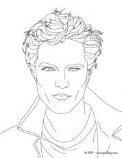 coloring pages of robert pattinson