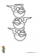 Pin Moustache Pig Of Angry Birds Coloring Pages 1 Com Portal ...