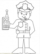 Police Officer Hat Coloring Page | Police crafts etc | Pinterest ...