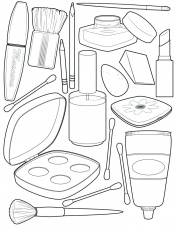 Coloring Pages : Makeup Coloring Pages Download Book ...