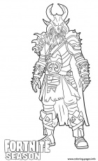 Ragnarok Skin From Fortnite Coloring Pages Printable