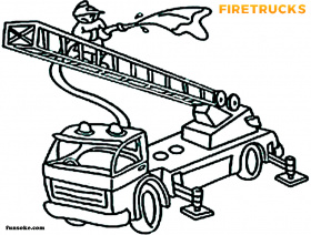 fire truck coloring page printable - Funsoke