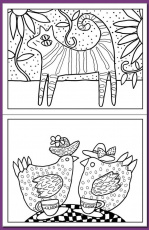 folk art birds coloring pages high quality coloring pages