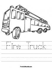 FIRE TRUCK COLORING SHEETS Â« Free Coloring Pages