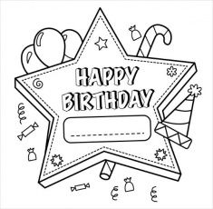 9+ Happy Birthday Coloring Pages - Free PSD, JPG, Gif Format Download |  Free & Premium Templates