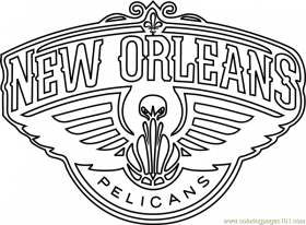 New Orleans Pelicans Coloring Page - Fre #1602092 - PNG Images - PNGio