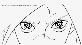 Lineart Madara Sharingan By Xthemagicianx On Deviantart - Mangekyou  Sharingan Madara Uchiha Coloring Pages PNG Image | Transparent PNG Free  Download on SeekPNG
