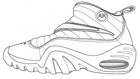 Printable Coloring Pages Of Nike Shoes - Kids Coloring Pages