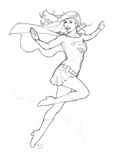 free coloring pages supergirl