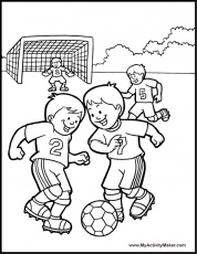 Soccer coloring pages 2 / Soccer / Kids printables coloring pages