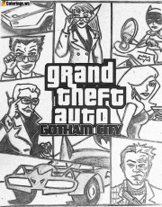 Gta 5 Coloring Pages Gotham City | GTA 5 Coloring Pages ...