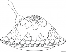 New Fabulous Dessert Coloring Page - Free Coloring Pages Online