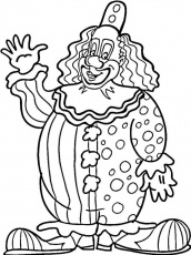 Free Coloring Pages Circus Clowns Free Circus Tent Coloring Pages ...