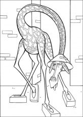 MADAGASCAR coloring pages - Melman the giraffe