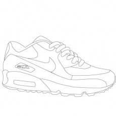 Coloring : Amazing Nike Shoe Coloring Page Free Shoe Coloring Page' Free  Shoe Coloring Page Printable' Blank Nike Shoe Coloring Page Yeezy or  Colorings