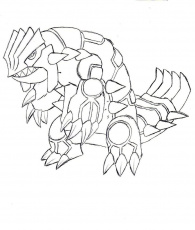 Groudon Coloring Page 1