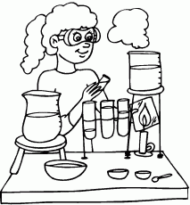Science Lab - Coloring Pages for Kids and for Adults