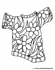 Summer Flower Shirt Color Picture - Create A Printout Or Activity
