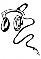 Headphones coloring pages