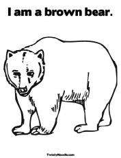 Brown Bear Brown Bear What Do You See Coloring Pages | Free ...