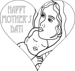 I Love You Mommy on Mothers Day Coloring Page | Coloring Sun