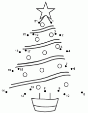 Christmas Tree - Connect the Dots, count by 1's (Christmas)