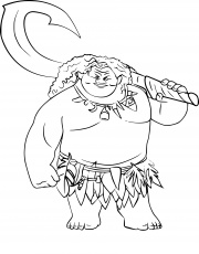 Maui Coloring Pages at GetDrawings | Free download