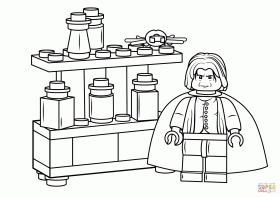 Lego Severus Snape coloring page | Free Printable Coloring Pages