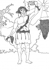 GREEK GODS coloring pages - POSEIDON the Greek god of the sea