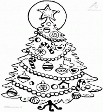 Christmas Tree Coloring Pages - Picture 11 – Christmas Tree