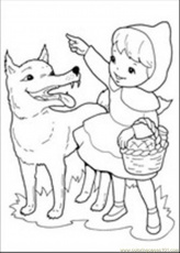 Coloring Pages Roodkapje 1 (Mammals > Wolf) - free printable