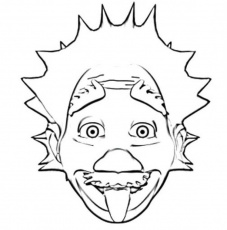 Albert Einstein Coloring For Kids - Kids Colouring Pages