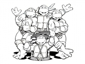 Teenage Mutant Ninja Turtles Coloring Pages - Free Coloring Pages