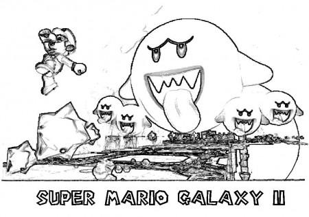 Mario Bros Mario Running Coloring Page Printable ...