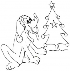 Free Printable Cartoon Disney Pluto Coloring Pages For Preschool #