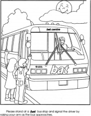 Bus station Colouring Pages