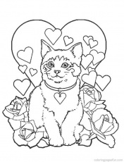 Kitten Coloring Pages for Kids- Free Printable Coloring Pages