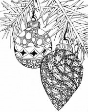 Free Christmas Coloring Page - Christmas Ornaments