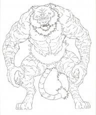 Incineroar Pokemon Sun and Moon Coloring Pages (Page 1) - Line.17QQ.com