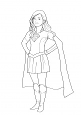 free supergirl coloring pages