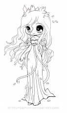 Anime Chibi Angel Coloring Pages - Coloring Pages For All Ages