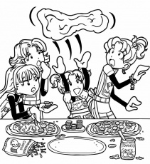dork diaries printable coloring pages