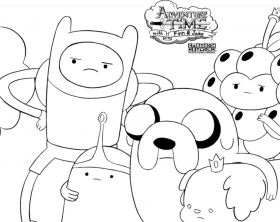adventure time free coloring pages