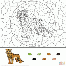 Color by Number Worksheets coloring pages | Free Coloring Pages
