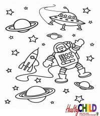 Space coloring pages - Space and Solar System Coloring pages