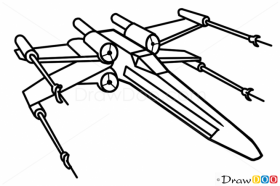 How to Draw X-Wing, Star Wars, Spaceships | Star wars drawings ...