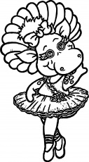 Baby Bop Dance Coloring Page | Dance coloring pages, Coloring ...
